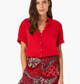 Xirena Xirena Channing Shirt Spirit Red