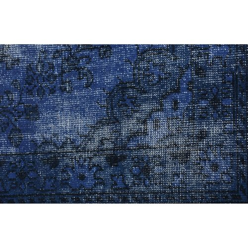 Tapis exotique bleu et noir Istanbul par Renwil