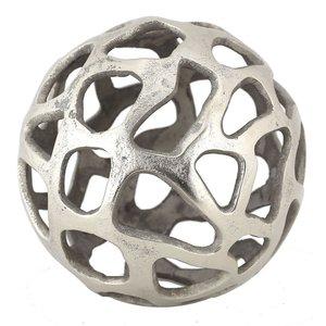 Sphère décorative en laiton fini nickel par Renwil