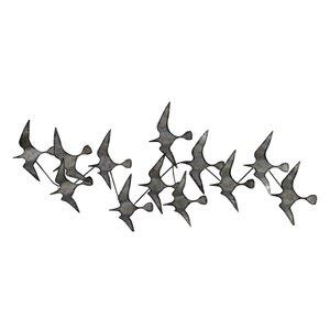Décoration murale en fer « envolée d'oiseau »
