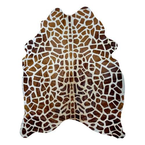 Tapis en peau de vache style girafe