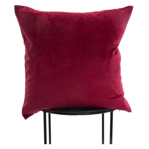 Coussin décoratif rouge rubis Cora par Renwil