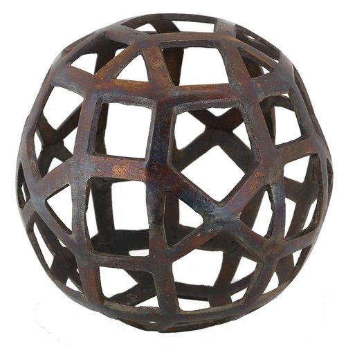 Sphère décorative en laiton fini cuivre par Renwil