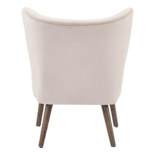 Chaise d'appoint rose pâle en velours luxueux Elle Blush