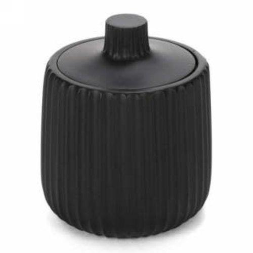 Jarre à coton noire en porcelaine