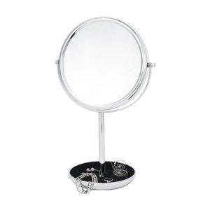 Miroir sur pied chrome avec plateau et zoom 10X