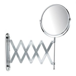 Miroir grossisant extensible chromé