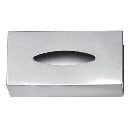 Boîte à mouchoirs en acier inoxydable par Harman
