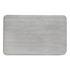 Tapis de bain gris en velour côtelé par Harman