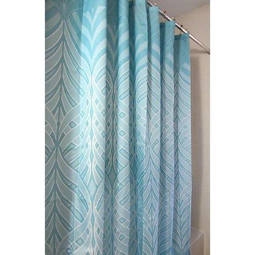 Rideau de douche bleu à motif luxueux par Harman