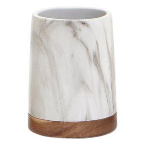Gobelet de salle de bain fini pierre et bois Wysteria