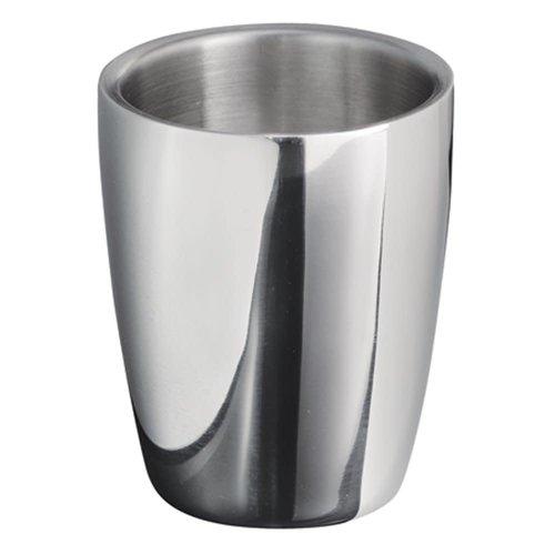 Gobelet de salle de bain chrome Forma par Interdesign