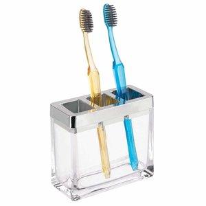 Porte-brosse à dents verre et chrome Casilla par Interdesign