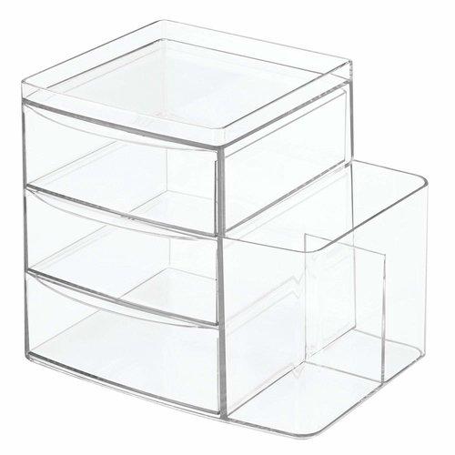 Organisateur de comptoir à 3 tiroirs et compartiment latéral