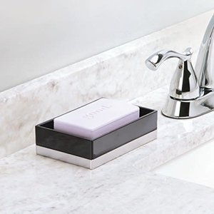 Porte-savon noir Clarity par Interdesign