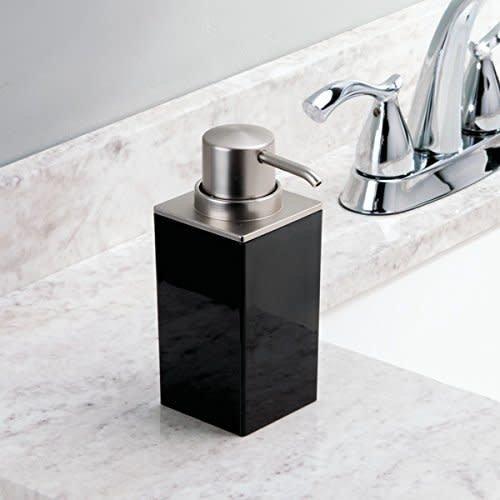 Pompe à savon noire Clarity par Interdesign