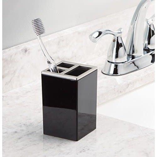 Porte-brosse à dents noir Clarity par Interdesign
