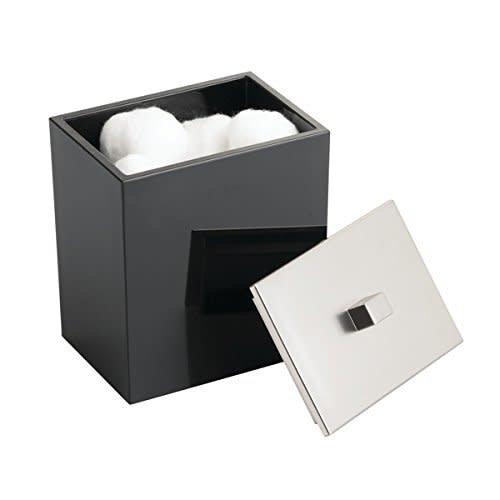 Jarre à coton noire Clarity par Interdesign
