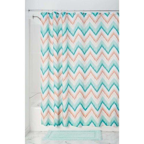 Rideau de douche Ikat à chevrons pastels par Interdesign