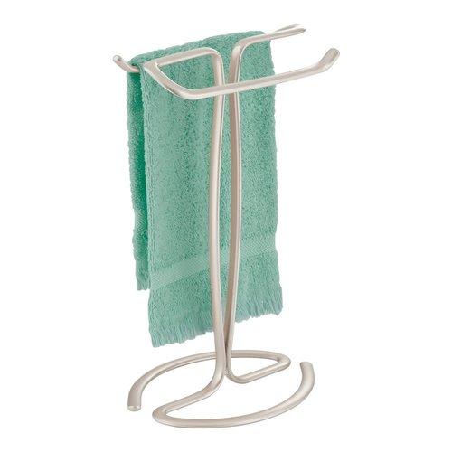 Porte-serviettes à arceaux gris satin Axis