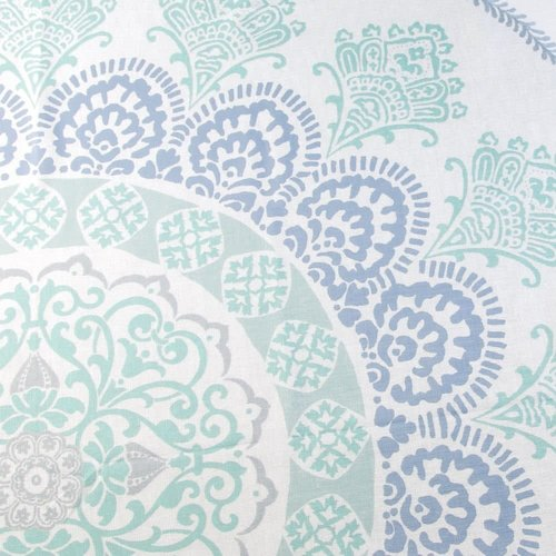 Rideau de douche blanc Ezra par Interdesign