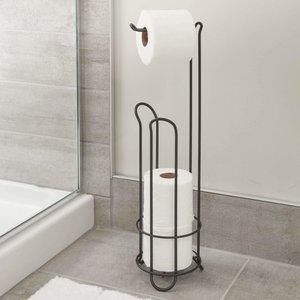 Support à papier de toilette noir Classico par Interdesign