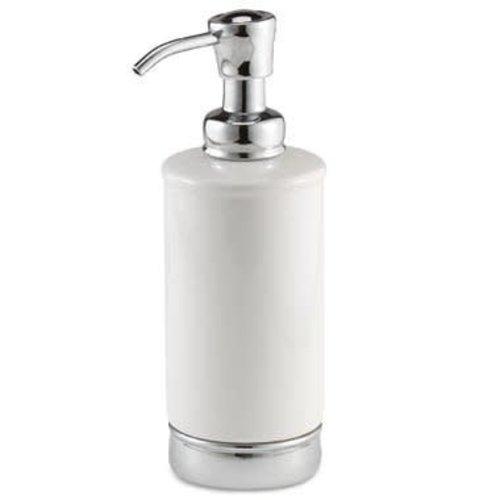 Pompe à savon blanche et chrome York par Interdesign