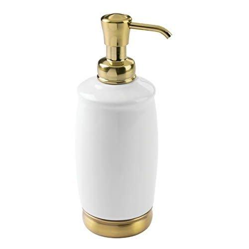 Pompe à savon blanche et or York par Interdesign