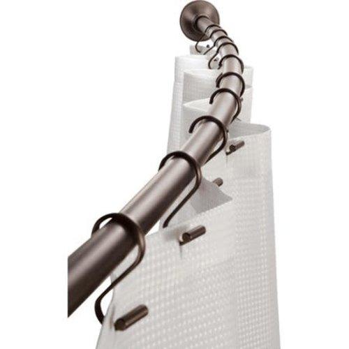 Pôle courbée bronze pour rideau de douche par Interdesign
