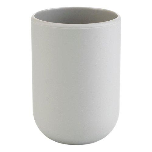 Gobelet de salle de bain gris Touch par Umbra