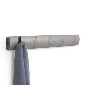 Porte-manteau gris à 5 crochets Flip par Umbra