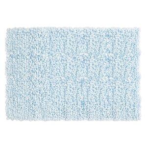 Tapis à bouclettes bleu pâle en fibres recyclées