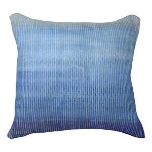 Coussin décoratif au dégradé tons de bleu