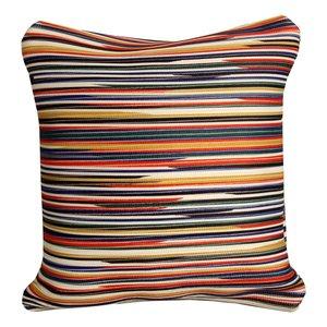 Coussin décoratif à rayures multicolores