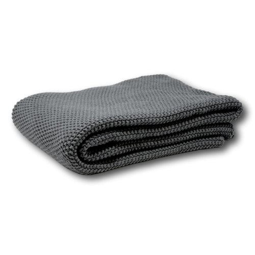 Jeté unie en tricot de coton