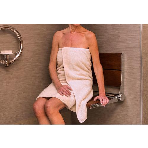 Siège mural pliable pour la douche Serena par Invisia