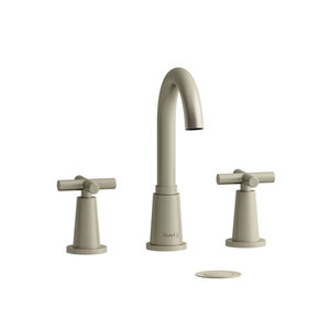 "Riobel Robinet de lavabo 8"" nickel brossé avec drain Pallace par Riobel"