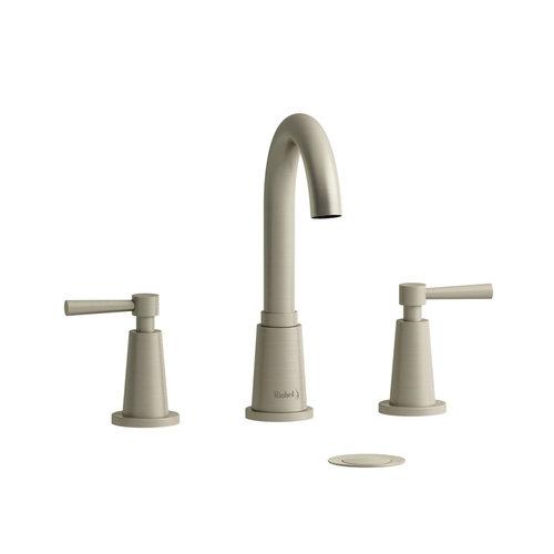 """Robinet de lavabo 8"""" nickel brossé avec drain Pallace par Riobel"""