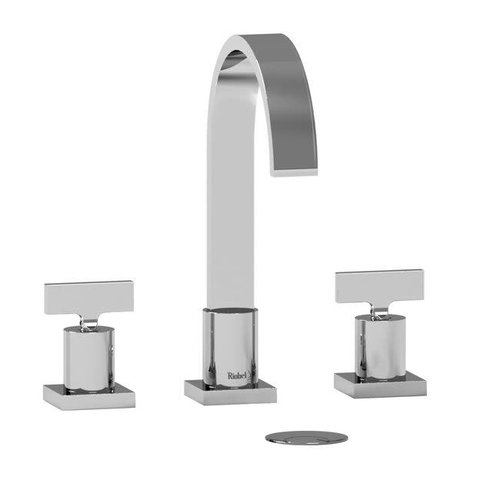 """Robinet de lavabo 8"""" chrome Profile avec drain par Riobel"""