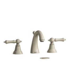 "Robinet de lavabo 8"" nickel brossé avec drain Provence par Riobel"