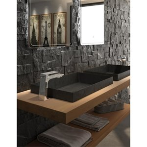 Robinet de lavabo monotrou chrome Slik par Tënzo