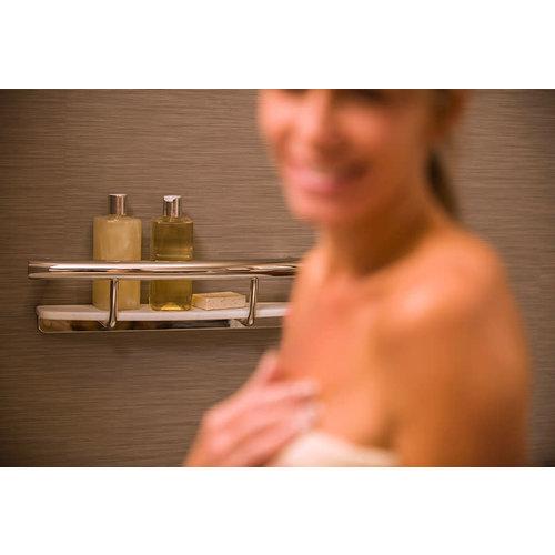 Tablette de support chrome pour la salle de bain par Invisia