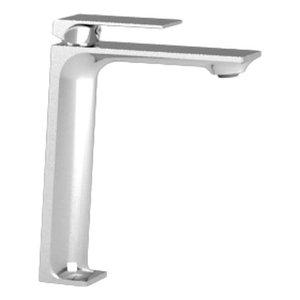 Robinet de lavabo monotrou haut chrome Slik par Tënzo