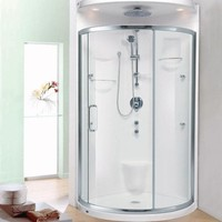 Porte de douche Baden chrome et clair par Neptune