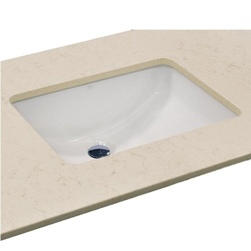 Lavabo sous plan blanc rectangulaire Recto par Vanico Maronyx