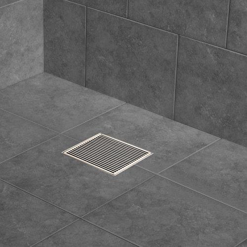 """Grille de drain carré 8""""en inox pour douche modèle C1 par Zitta"""