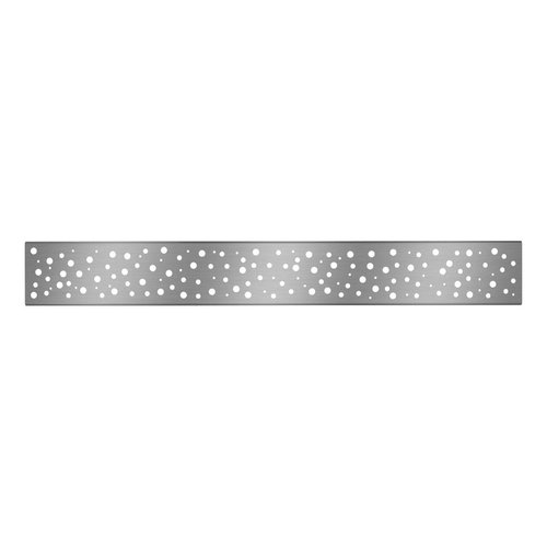 """Grille de drain linéaire 48"""" en inox pour douche modèle A3 par Zitta"""