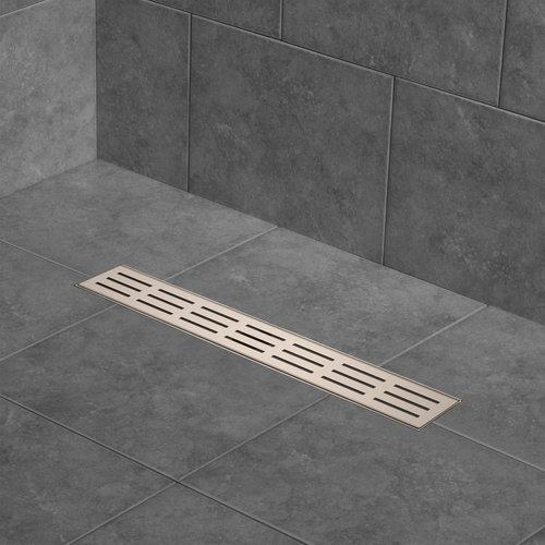"""Grille de drain linéaire 48"""" en inox pour douche modèle A2 par Zitta"""