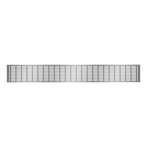 """Grille de drain linéaire 24"""" en inox pour douche modèle C1 par Zitta"""