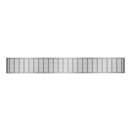 """Grille de drain linéaire 54"""" en inox pour douche modèle C1 par Zitta"""